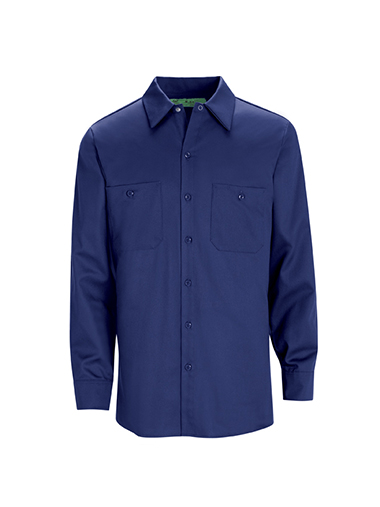 Long Sleeve Wrinkle Resistant Cotton Work Shirt