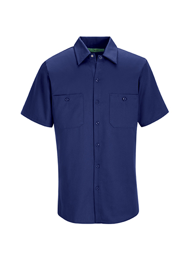 Wrinkle Resistant Short Sleeve Cotton Work Shirt