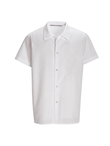 White Cook Shirt Pocketless